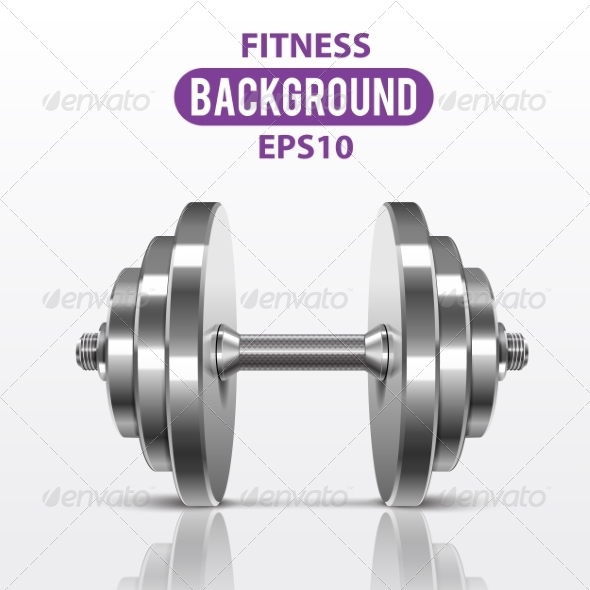 GraphicRiver Fitness Dumbbell 7735590