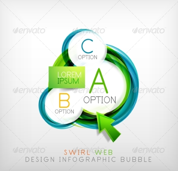 GraphicRiver Swirl Web Design Infographic Bubble Flat Concept 7736435