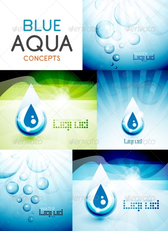 GraphicRiver Vector Water Concepts Design Collection 7736704
