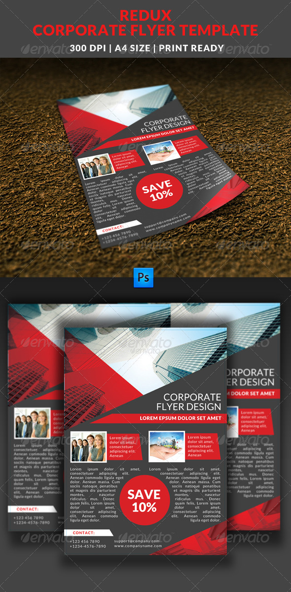 GraphicRiver Redux Corporate Flyer Template 7737715
