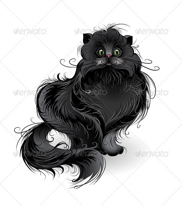 GraphicRiver Black Cat 7670343