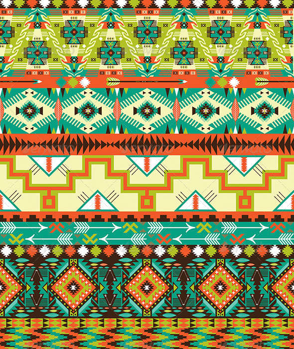 GraphicRiver Native American Style Pattern 7655709