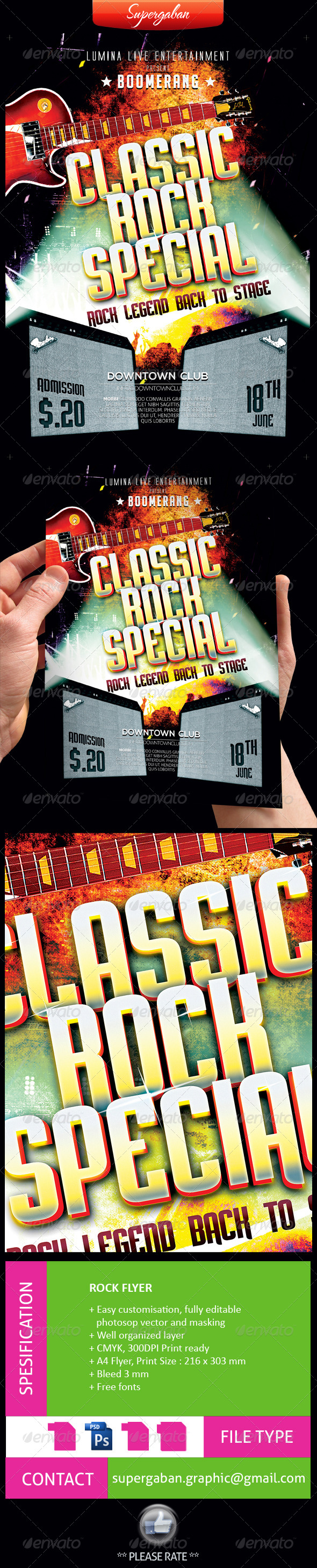 GraphicRiver Rock Music Live Flyer 7738048