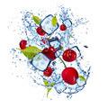 Ice cherries on white background - PhotoDune Item for Sale