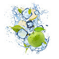 Ice green apple on white background - PhotoDune Item for Sale