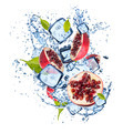 Ice pomegranate on white background - PhotoDune Item for Sale