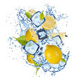 Ice lemons on white background - PhotoDune Item for Sale