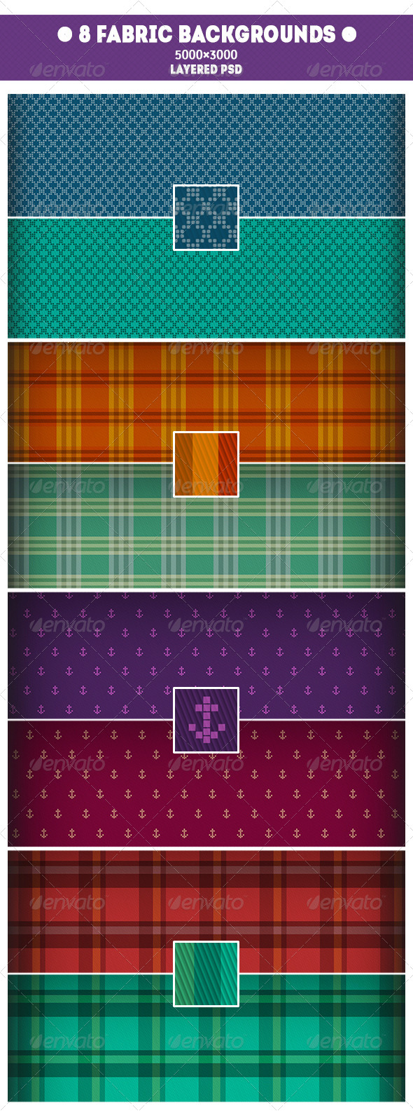 GraphicRiver 8 Fabric Backgrounds 7697147