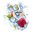 Ice red apple on white background - PhotoDune Item for Sale