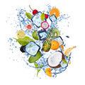 Ice fruit on white background - PhotoDune Item for Sale