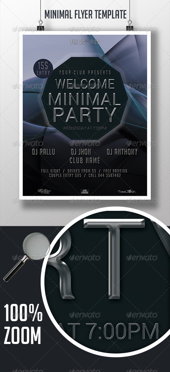 GraphicRiver Minimal Flyer 7738875