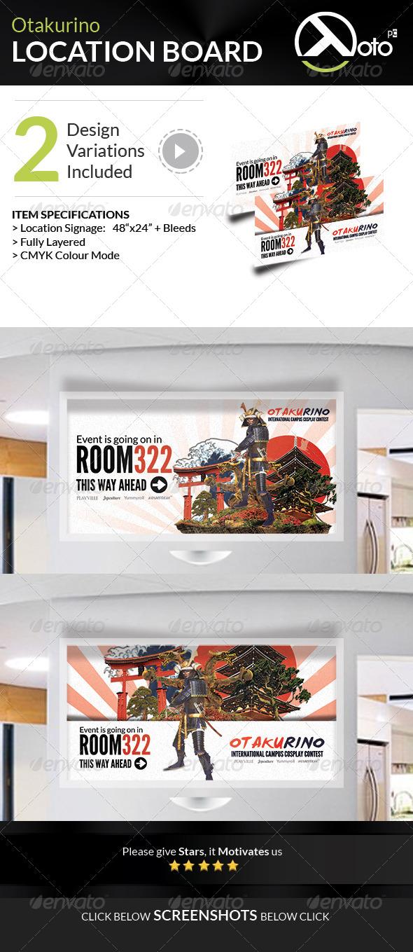 GraphicRiver Otakurino Cosplay Contest Location Board 7738907