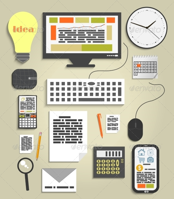 GraphicRiver Business and Office Work Elements 7739497
