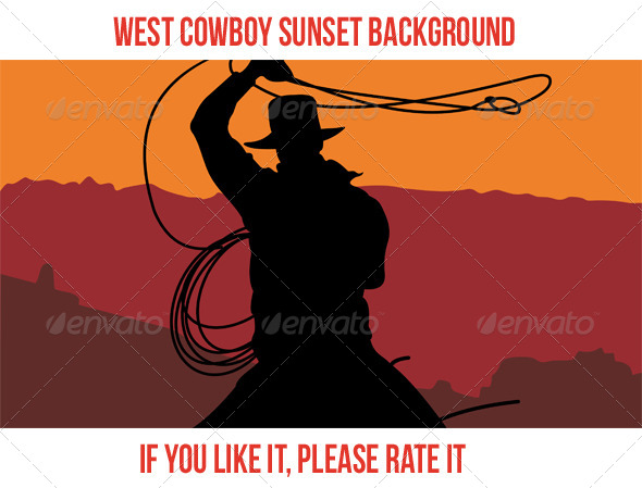 GraphicRiver West Cowboy Sunset 4 7739856