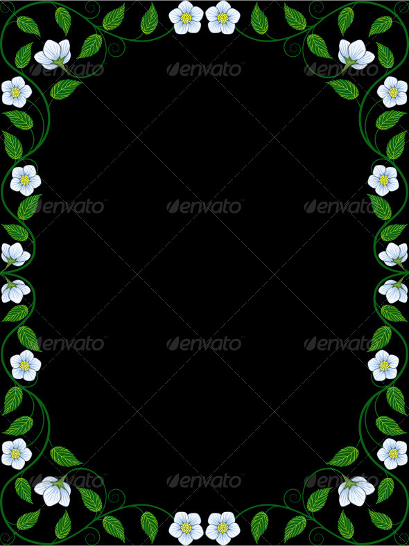 GraphicRiver Vintage Floral Frame 7739976
