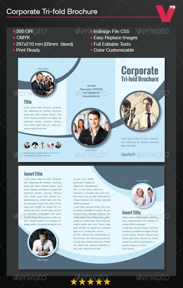 GraphicRiver Corporate Tri-fold Brochure 7740078