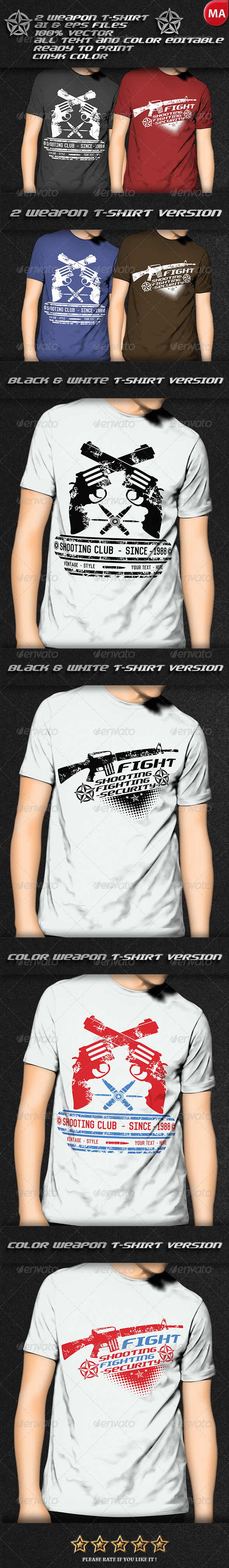 GraphicRiver 2 Weapon T-Shirt 7740604