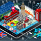 Isometric Infographic of Great Britain on Tablet - GraphicRiver Item for Sale