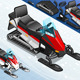 Isometric Snowmobile in Front View - GraphicRiver Item for Sale