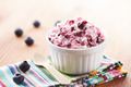 Blueberry ice cream in a bowl - PhotoDune Item for Sale