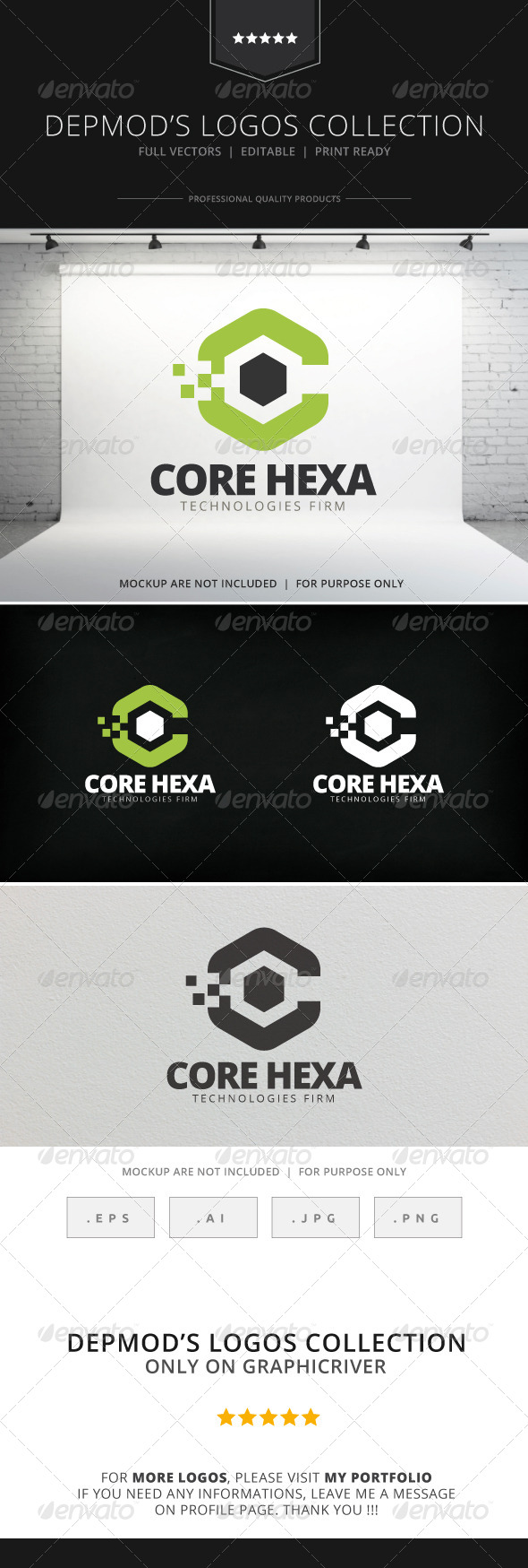 GraphicRiver Core Hexa Logo 7740952