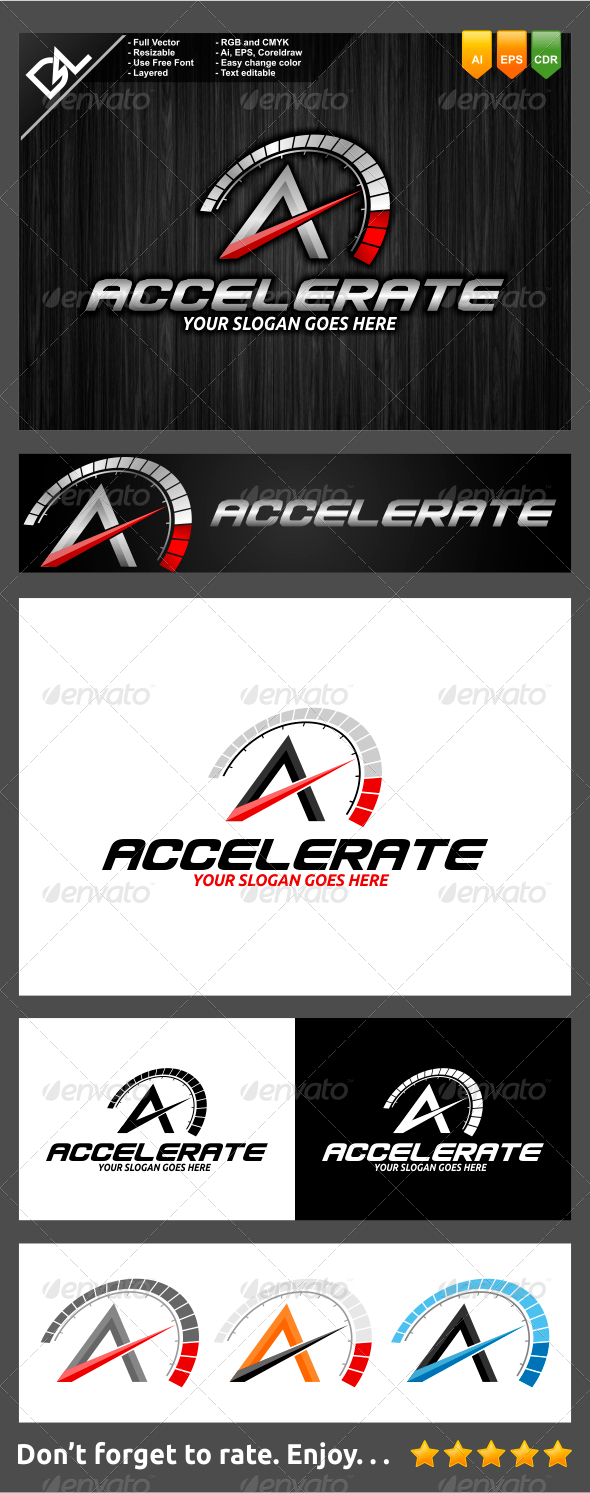 GraphicRiver Accelerate A Letter Logo Template 7741307