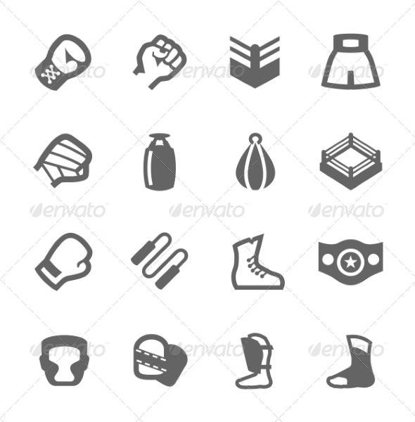 GraphicRiver Boxing and Fighting Icons 7742161