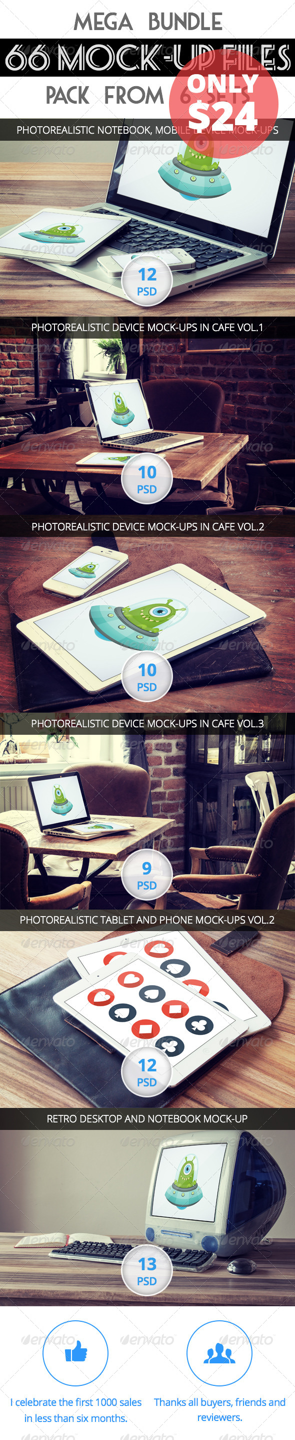 GraphicRiver 66 Mock-Up Second Bundle 7733119
