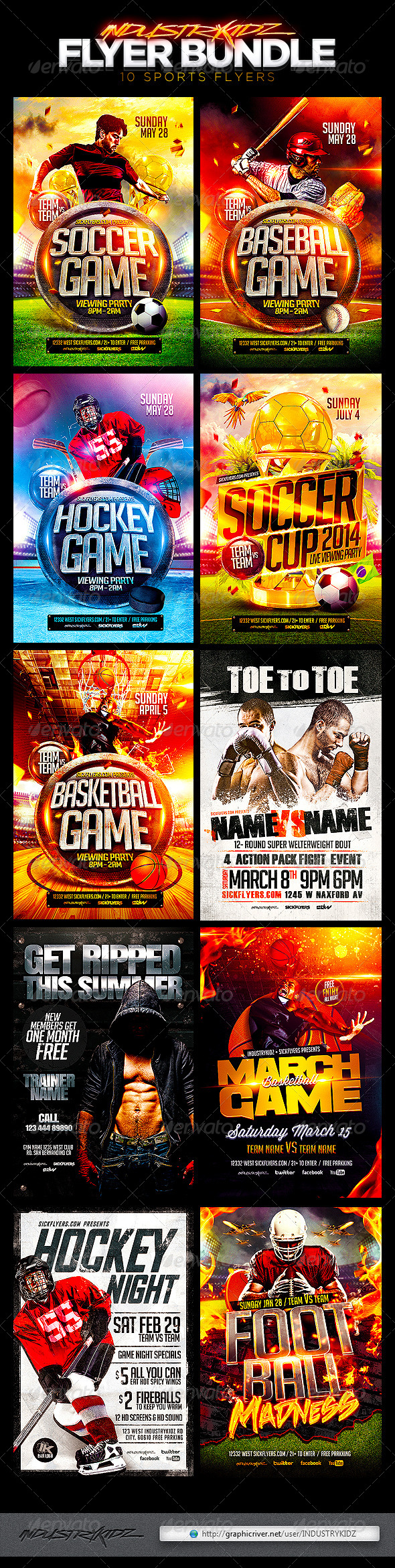 GraphicRiver Sports Flyer Template Bundle 7720458