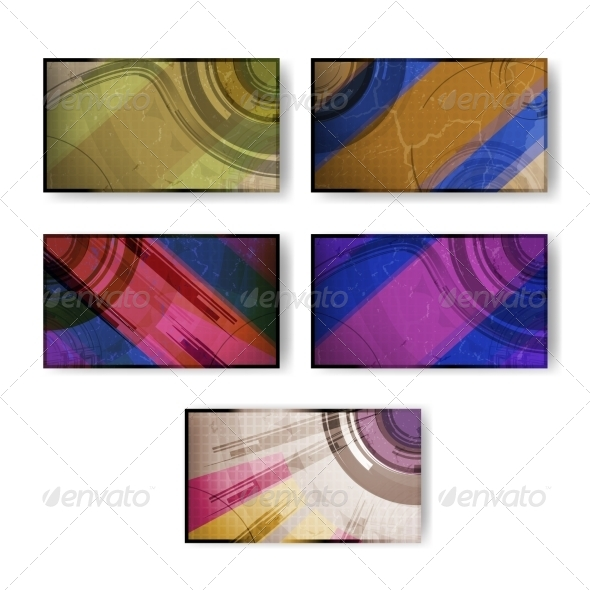 GraphicRiver Set of Abstract Vector Background 7742997
