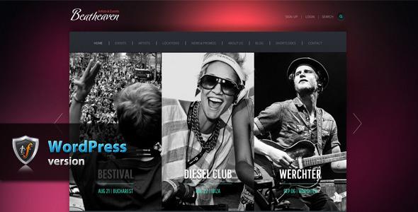 ThemeForest Beatheaven Music WordPress Theme 7743001