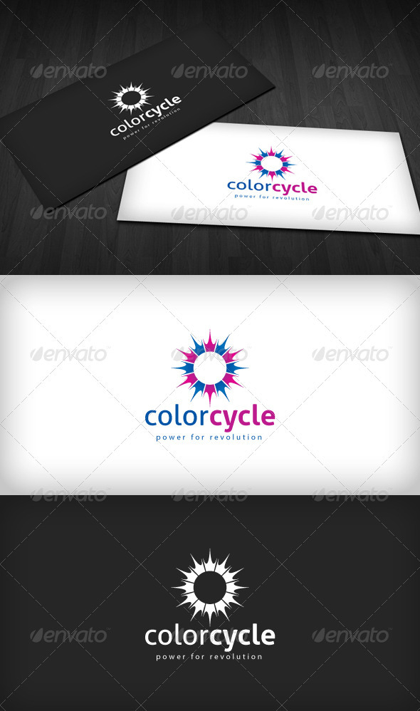 Color Cycle Logo - Vector Abstract