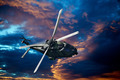 Helicopter at sunset - PhotoDune Item for Sale