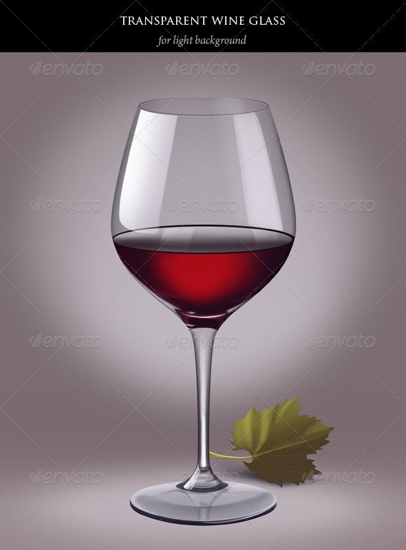 Transparent wine glass with red wine - Food and Drink Packaging