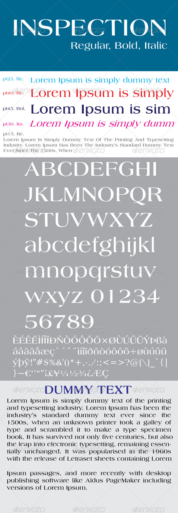 GraphicRiver Inspection Font 7744041