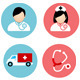 Medical And Health Flat Icons Set - GraphicRiver Item for Sale