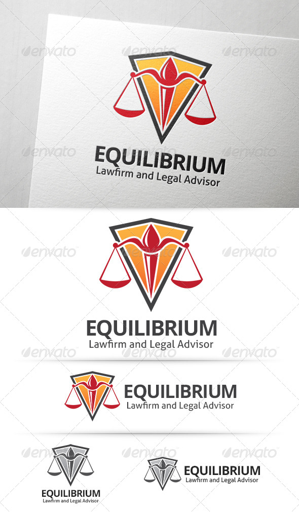 GraphicRiver Equilibrium Law Logo 7745628