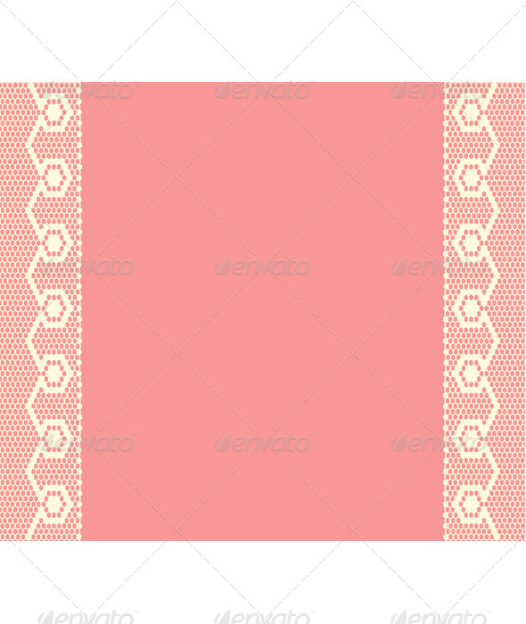 GraphicRiver Pink Background with Lacy Stripes 7745678