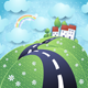 Fantasy Landscape with Hilly Road - GraphicRiver Item for Sale
