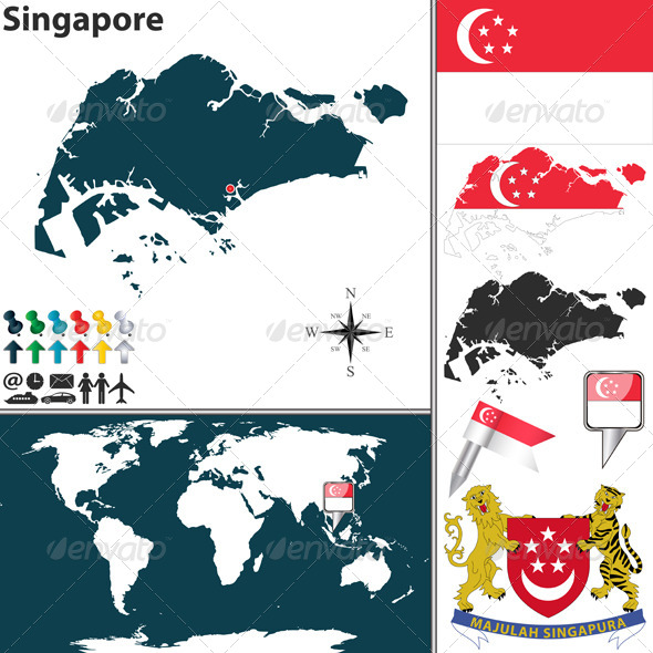 GraphicRiver Map of Singapore 7746220