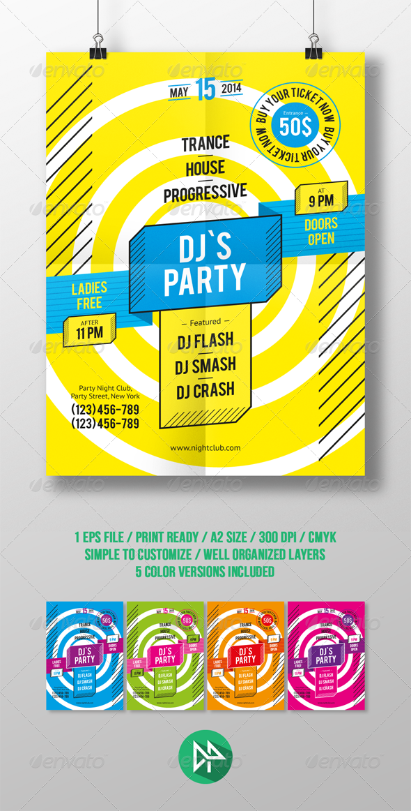 GraphicRiver DJ Party Poster Template 7746963