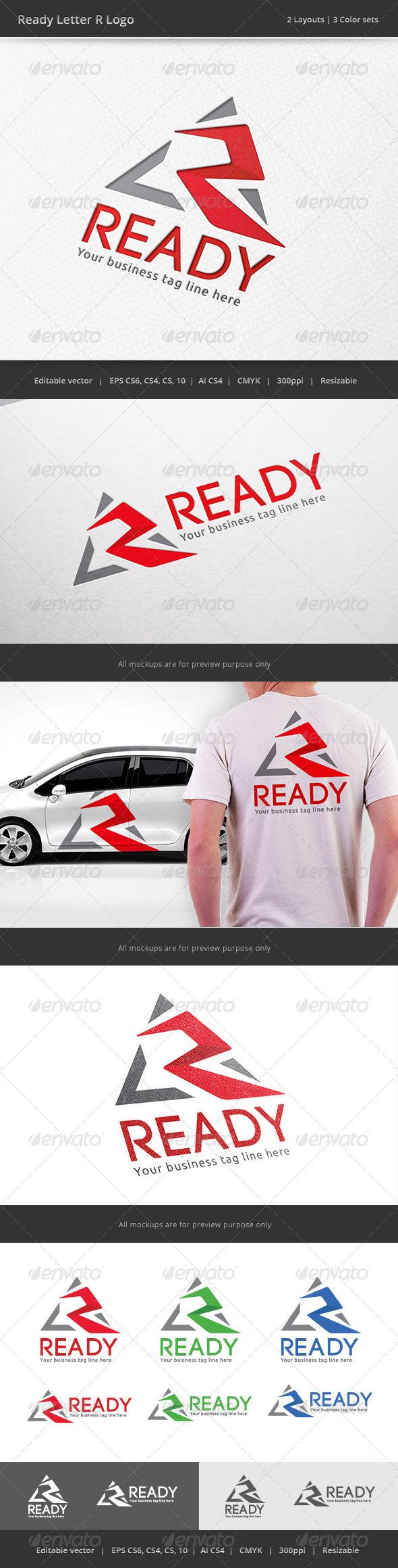 GraphicRiver Ready Letter R V2 Logo 7747095