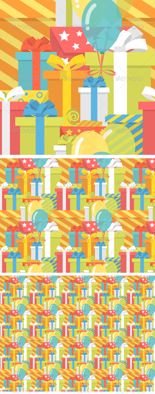 GraphicRiver Birthday Pattern with Gifts 7747252