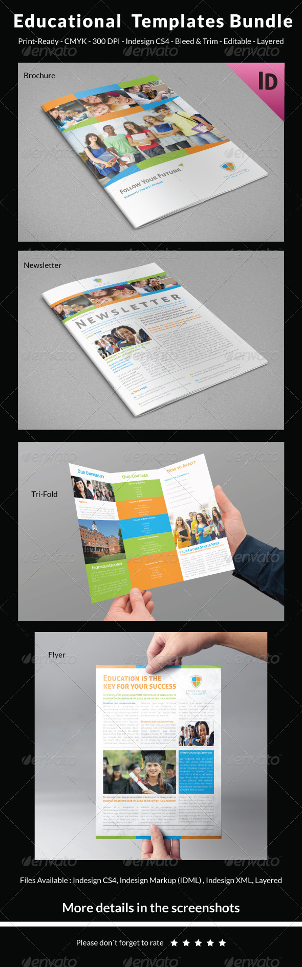 GraphicRiver Educational Templates Bundle 7748425