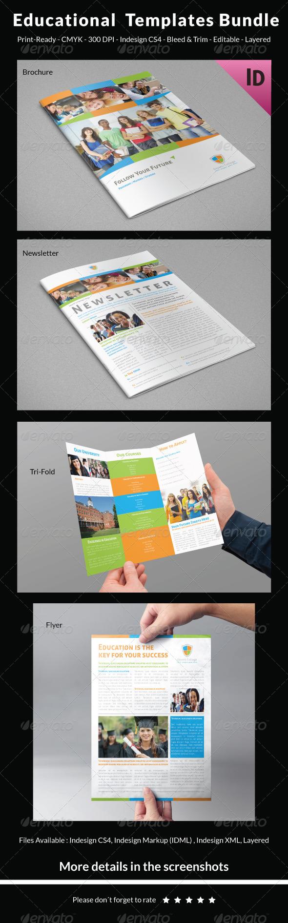 GraphicRiver Educational Templates Bundle 7748425