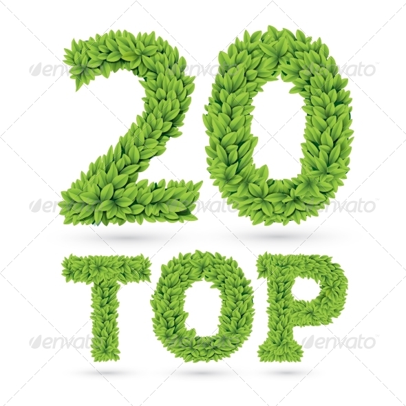 GraphicRiver Green Leaves Text Top 20 7748659
