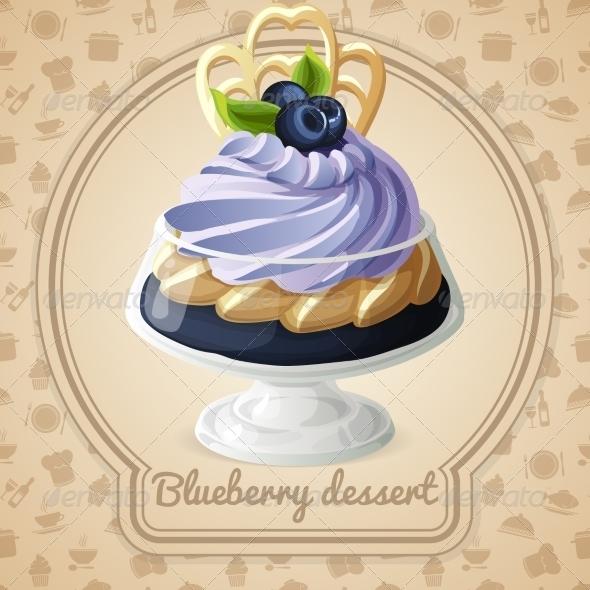 GraphicRiver Blueberry Dessert Badge 7748897