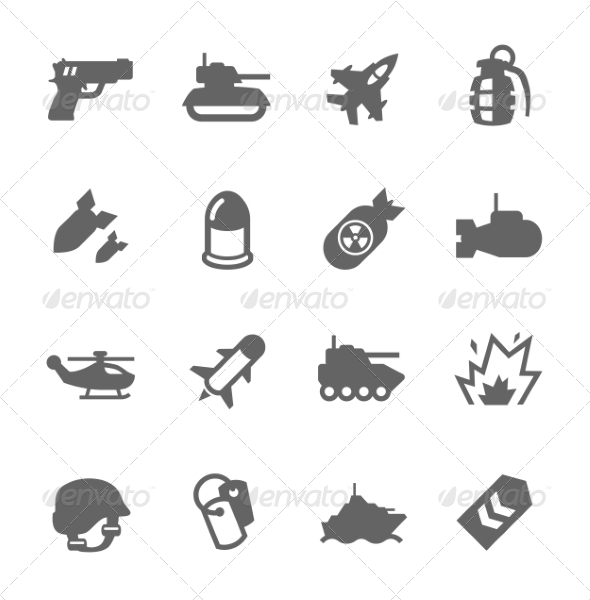 GraphicRiver Military Icons 7749025