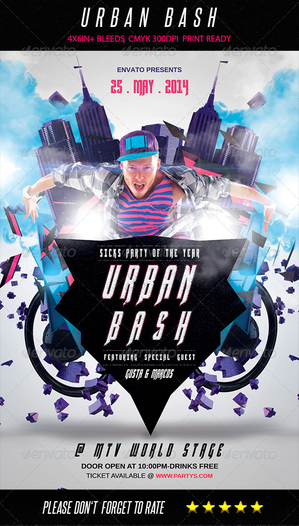 GraphicRiver Urban Bash Flyer 7749358
