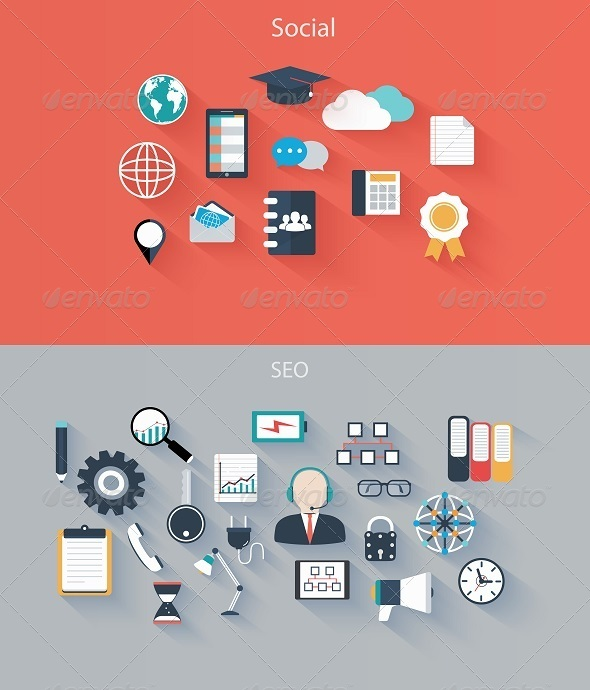 GraphicRiver Set of Flat Icons for Web and Mobile Devices 7749707